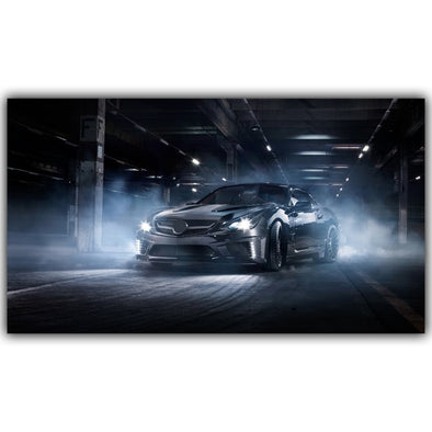 New Sports Car Poster Custom Home Decoration Fashion Silk Fabric Wall Poster Car Design Wallpaper - BC&ACI