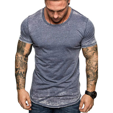 New Men's Summer Slim Casual Patchwork Short Sleeve t-shirt - BC&ACI