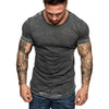 T Shirt Men's Summer Slim Casual Zipper Fit Patchwork Short Sleeve t-shirt