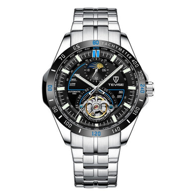 New TEVISE Fashion Men's Skeleton Tourbillon Stainless steel Watches - BC&ACI