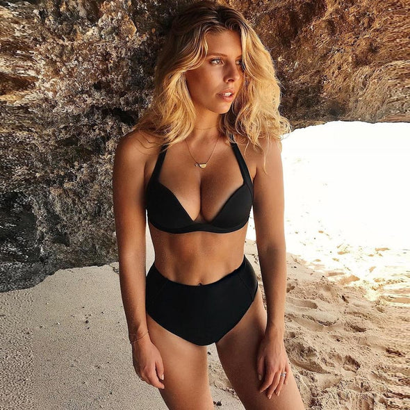 TeLaura Sexy High Waist Bikini Set Swimwear Women Swimsuit Push Up 2018 Womens Bikini Halter Top Bathing Suit Beachwear Biquini - BC&ACI