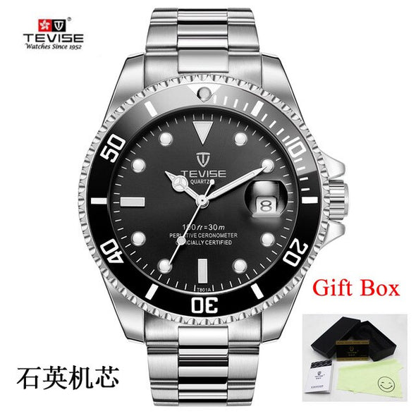 Tevise Men's Watches Top Brand Quartz Watches Men Date Luxury Fashion Diving Sports Wristwatches Male Clock Relogio Masculino - BC&ACI