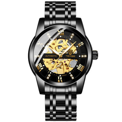 Top Brand Luxury TEVISE Mens Self Wind Wristwatch Man Mechanical Watches Automatic Watch Fashion Male Clock Relogio Masculino - BC&ACI