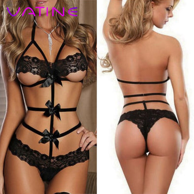 New VATINE Sexy Underwear Sleepwear Lace Bow - BC&ACI
