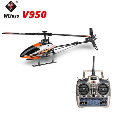 New WLtoys V950 6CH 3D6G System Flybarless Big RC Helicopter with Brushless Motor 2.4G RTF - BC&ACI