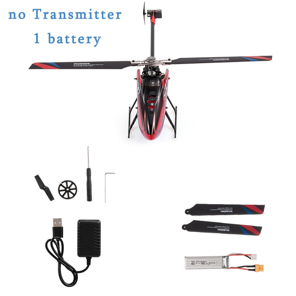New WLtoys XK K130-B RC Helicopter Brushless 3D6G Flybarless S-FHSS Stunt Remote Control Helicopter with 3 Batteries - BC&ACI