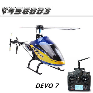 New Walkera V450D03 6-axis-Gyro Flybarless 3D RC Helicopter With DEVO 7 Transmitter RTF 2.4GHz - BC&ACI