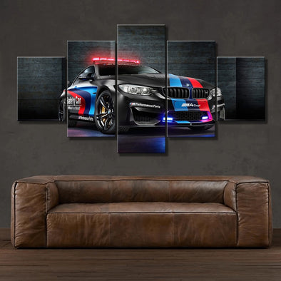 New Wall Art Canvas Painting Frame HD Prints Modular Poster 5 Pieces BMW M4 Black Sport Car Pictures - BC&ACI