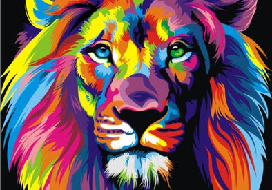 New Watercolor Lion Pop Art Posters And Prints Abstract - BC&ACI