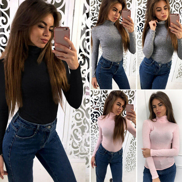 Wild clothes For Women Casual Slim Fit Long Sleeve T shirt Tops