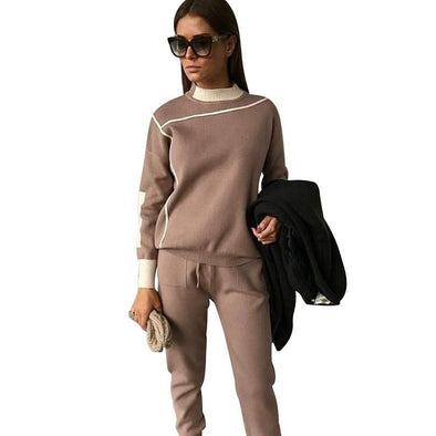 Woman Tracksuits 2018 Autumn Fashion Turtleneck Sweater - BC&ACI