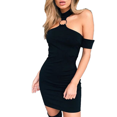 Women Hot Sexy Halter Short Mini Dress