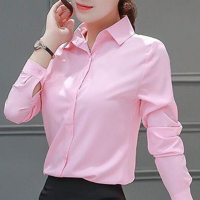 Womens Blouses Cotton Tops and Blouses Casual Long Sleeve Ladies Shirts - BC&ACI