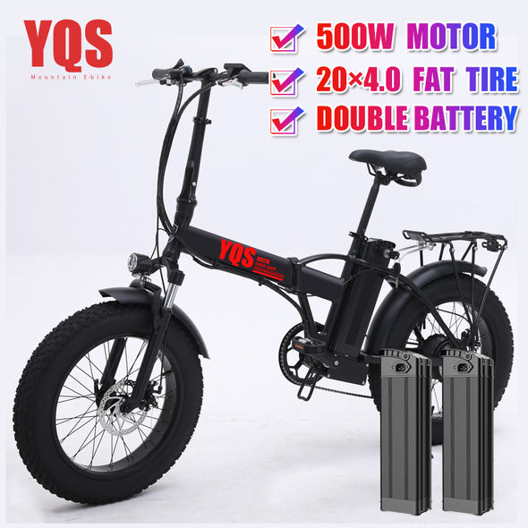 YQS New 500W mountain electric bike 20inch 4.0 fat tire ebike beach electric bicycle - BC&ACI