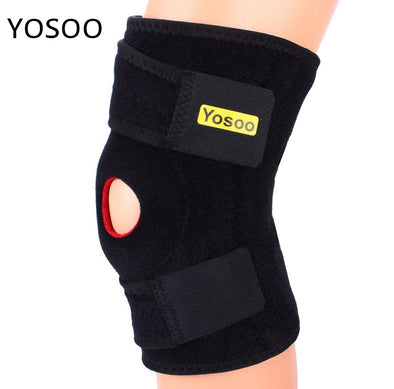 Yosoo Knee Support Brace Patella Gym Weight Lifting Kneepad Hole Joint Guard Braces Protector