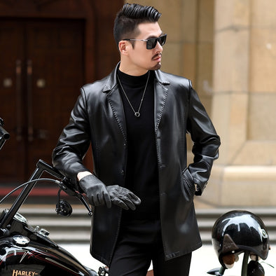 New winter Lapel  Fashion Autumn Male Leather Jacket - BC&ACI