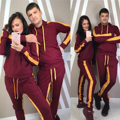 ZOGAA Tracksuit Set for Women or Men Hooded Casual Patchwork