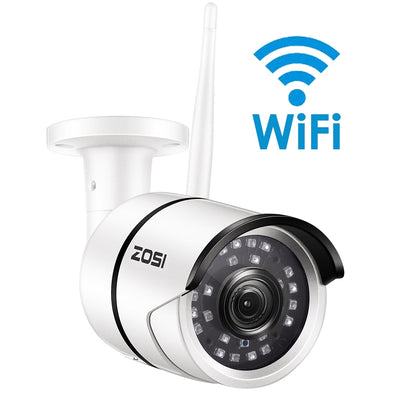 ZOSI 1080P Wifi IP Camera Onvif 2.0MP HD Outdoor Weatherproof Infrared Night Vision - BC&ACI