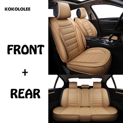 New kokololee pu Leather Car Seat Covers for kia rio 4 renault captur nissan mercedes - BC&ACI