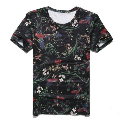 new spring men's digital printing short sleeved T-shirt cotton casual tops tees Fitness Mens - BC&ACI