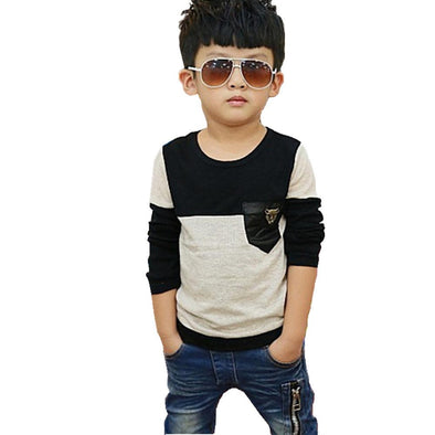 2-11T Quality Spring Autumn Baby Boy T Shirt Casual Vetement Garcon Kids Clothes Toddler T-Shirt Children Clothing Tops Tee