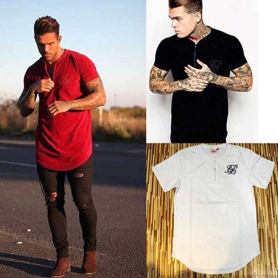 New silk Solid  style hip hop t-shirt  for men - BC&ACI