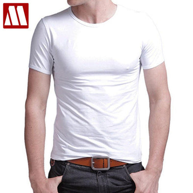 "New men""s  O-neck short sleeved cotton stretch Lycra tight tees - BC&ACI"