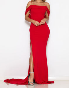 Abyss by Abby Devi Gown Red