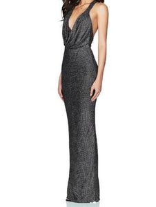 Nookie Strut Gown Gold/Silver