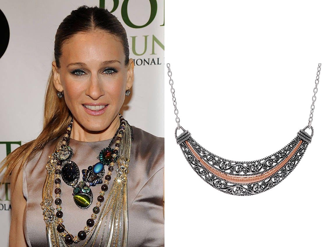 paz creations two tone necklace sarah jessica parker