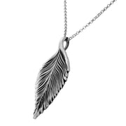Sterling Silver Leaf Pendant  - Paz Creations Jewelry
