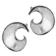 Sterling Silver Spiral Stud Earrings - Paz Creations