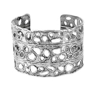 Sterling Silver Open Work Bold Cuff  - Paz Creations Jewelry