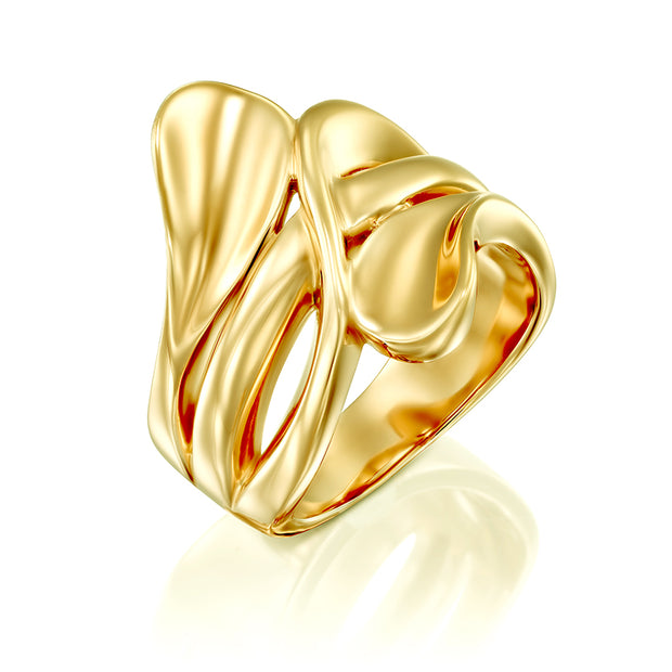14K gold plated ring - Yellow or Rose gold over .925 Sterling Silver  - Paz Creations Jewelry