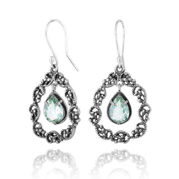 Sterling Silver Earrings with Gemstones  - Paz Creations Jewelry