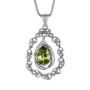 Silver Pendant with Gemstone