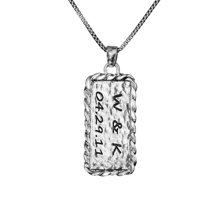 Sterling Silver Personalized Pendant Necklace  - Paz Creations Jewelry