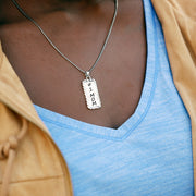 Sterling Silver Engraved Pendant Necklace for Mother's Day - #1 Mom  - Paz Creations Jewelry