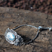 Sterling Silver Adjustable Roman Glass Bracelet - Paz Boutique  - Paz Creations Jewelry
