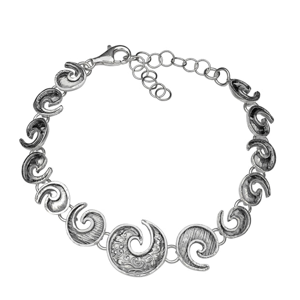 Lace Scroll-Design Bracelet  - Paz Creations Jewelry
