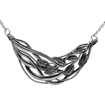 Silver Leaf Necklace - Paz Creations