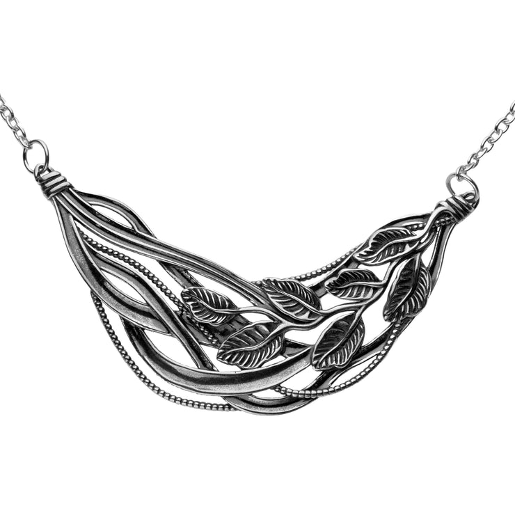 Silver Leaf Necklace  - Paz Creations Jewelry