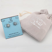 Silver Roman Glass Stud Earrings  - Paz Creations Jewelry