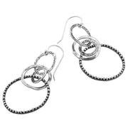 Silver Textured Dangle and Drop Earrings  - Paz Creations Jewelry
