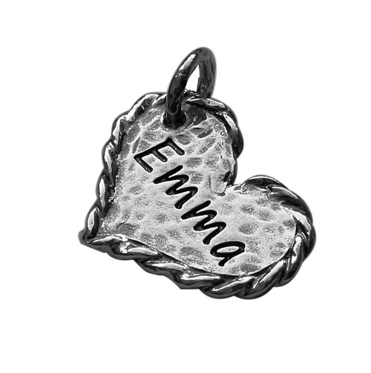Sterling Silver Heart Charm  - Paz Creations Jewelry