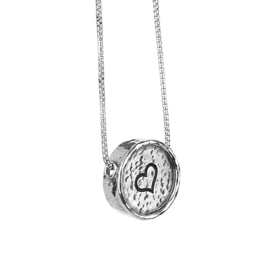 Sterling Silver Personalized Pendant Necklace - NESTED PENDANT - Paz Creations
