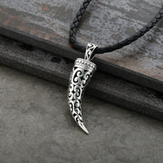Paz Creations Men's Sterling Silver filigree Tusk Pendant necklace  - Paz Creations Jewelry