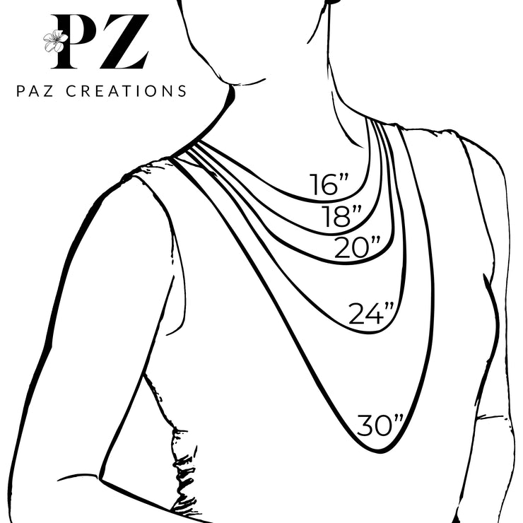 Sterling Silver Necklace with Cubic Zirconia Pendant  - Paz Creations Jewelry