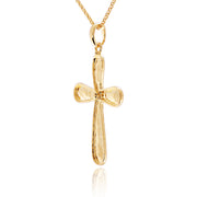 14K Gold Plated Necklace with Cross Pendant  - Paz Creations Jewelry
