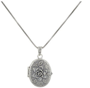 Sterling Silver Locket Necklace